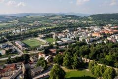 Trencin Slovakia Soccer Field Stock Photo