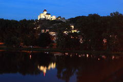 Trencin at sunset Royalty Free Stock Photo