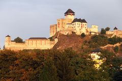 Trencinsky hrad or Trencin castle Royalty Free Stock Photo