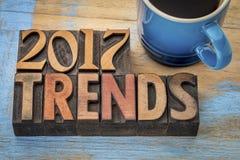 2017 trendów w drewnianym typ Zdjęcie Stock