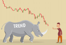 Trend as a rhino. Royalty Free Stock Photo