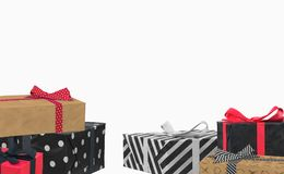 Trend background with gift boxes. Trendy background with gift boxes 3d royalty free illustration