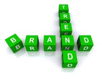 Trend and brand word blocks Stock Images