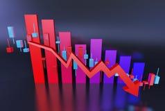 Trend ekonomiczny Fotografia Stock