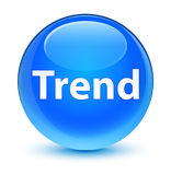 Trend glassy cyan blue round button Stock Photography