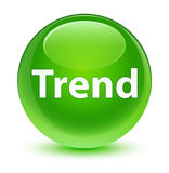 Trend glassy green round button Stock Photography