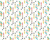 Future geometric pattern. Simple geometric composition of figures. Hipster colors. Original fashionable design. Vector template. Trend halftone geometric shapes royalty free illustration