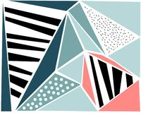 Fashionable geometric flat pattern, frame with abstract background for brochure design,flyer or presentations, vector illustration royalty free illustration