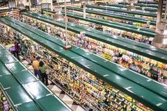 Trend-inställning livsmedelsbutik Arkivfoto