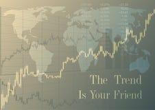 Trend jest twój przyjacielem ilustracja wektor