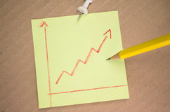 Trend line graph Royalty Free Stock Photography