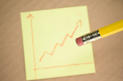 Trend line graph Stock Photography