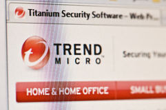 Trend Micro di titanio fotografie stock