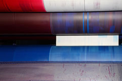 Trend offset printing - detail stock photography