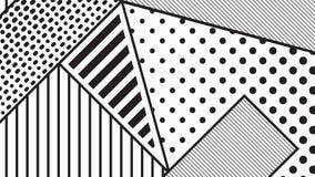 Trend pop art geometric pattern set Stock Photo