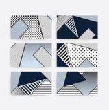 Trend pop art geometric pattern set Royalty Free Stock Photos