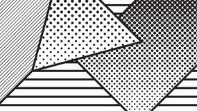 Trend pop art geometric pattern set Royalty Free Stock Image