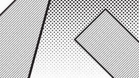 Trend pop art geometric pattern set Stock Images