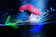 Trend rozwój gospodarka Obraz Stock