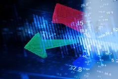 Trend rozwój gospodarka Fotografia Stock