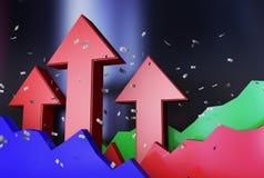 Trend rozwój gospodarka ilustracji