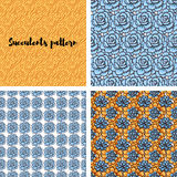 Trend of succulents patterns and stripes. Stock Images