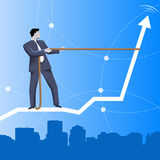 Trend taming business concept Stock Image