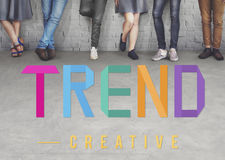 Trend Trending Trendy Fashion Forecast Design Concept. New Trend Creative Design Concept Royalty Free Stock Images