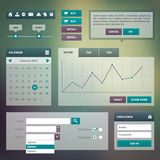 Trend UI components for web or e-commerce Royalty Free Stock Image