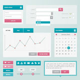 Trend UI components for web or e-shop Stock Photography