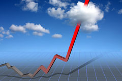 Trend upwards Stock Photo