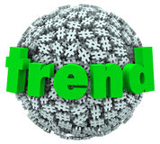 Trend Word Hashtag Tag Number Sign 3D Sphere Royalty Free Stock Photos