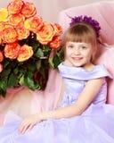 trendig flicka little Royaltyfria Foton