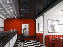 trendig interior för stång Arkivfoto