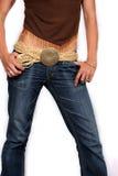 trendig jeans Arkivbild