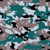 Trendig kamouflagemodell, sömlös vektor Millatry tryck texturen av kläderna, förklädnaden av en jägare vektor illustrationer