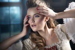 trendig lady Fotografering för Bildbyråer