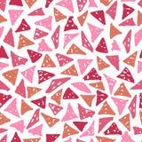 Trendig sömlös modell med hand-drog trianglar stock illustrationer