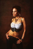 trendig sexig kvinna fotografering för bildbyråer