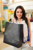 trendig shoppingkvinna arkivbild