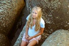 Trendig ung flicka Royaltyfri Foto