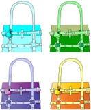trendiga handväskor Fotografering för Bildbyråer