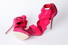 trendiga rosa skor Royaltyfri Bild