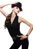 trendigt glamourkvinnabarn Royaltyfri Fotografi