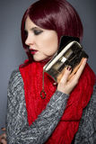 Trendigt mobiltelefonfall Fotografering för Bildbyråer