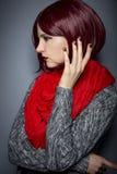 Trendigt rött spikar polermedel Royaltyfri Fotografi
