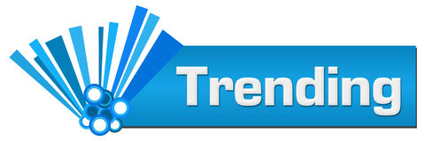 Trending Blue Graphical Horizontal Royalty Free Stock Photography