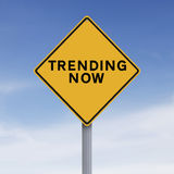 Trending Now. A modifed road sign indicating Trending Now Royalty Free Stock Image
