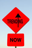 Trending Now sign Royalty Free Stock Image