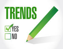 Trends approval checklist sign concept Royalty Free Stock Photography